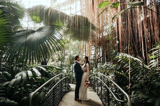 Atlanta Botanical Garden Wedding Venue Outdoor Atlanta Wedding Venues